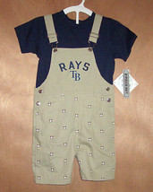Tampa Bay Toddler Boys Overalls with Blue Shirt Set Snaps Sizes 3T or 4T... - $13.99