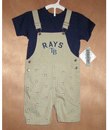 Tampa Bay Toddler Boys Overalls with Blue Shirt Set Snaps Sizes 3T or 4T... - $19.99