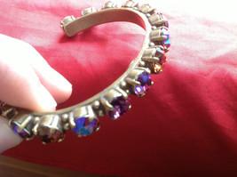 Sorrelli Gold Purple Aurora type Bracelet Open Adjustable - $143.55