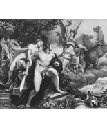 NUDE Goddess Venus & Bellona War Horse Chariot ... - $27.72