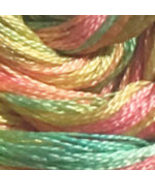 Lou's Lolly 6 strand hand dyed embroidery floss 5yd skein Ship's Manor  - $2.00
