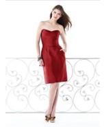 Dessy 2816*....Bridesmaid / Cocktail Dress....Ribbon Red......Sz 10 - $19.79