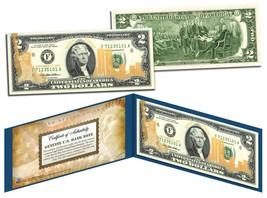 WORLD TRADE CENTER 9/11 U.S. $2 Bill * Statue of Liberty * Laser Line GO... - $12.95