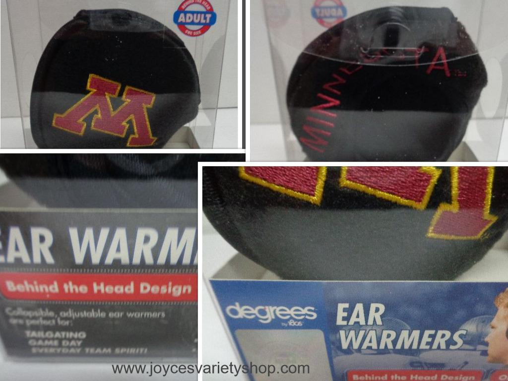Minnesota Tailgating Ear Warmers NIB Adult Collegiate Licensed