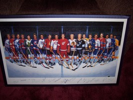 Lithograph 500 Goal SIGNED  Auto Maurice Richard Hull Howe  16 of 19 - $1,484.99