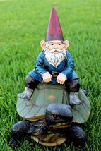 Garden Gnome Statue Dwarf Sculpture Vintage Lawn Ornament Outdoor Decora... - $94.99