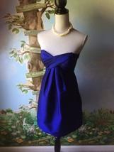 Cashe' Women's Blue Taffeta Strapless Cocktail Dress SZ 2 - $34.64