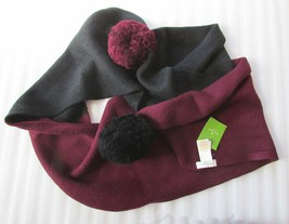 Kate Spade New York Scarf Colorblock Pom Wool Knit NEW - $57.42