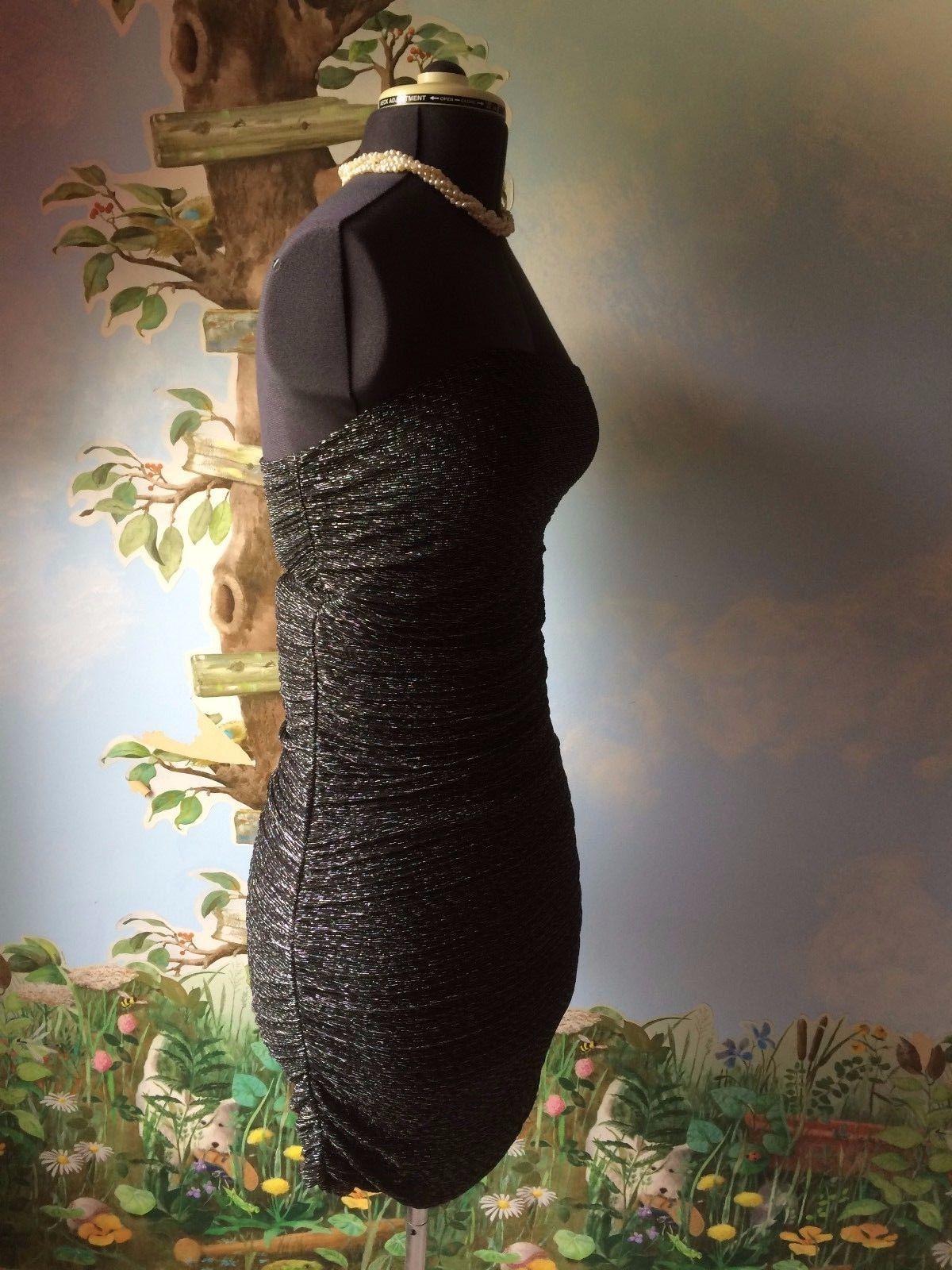 Express Women's Black & Silver Strapless Cocktail Dress SZ M NWT image 6