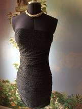 Express Women's Black & Silver Strapless Cocktail Dress SZ M NWT image 3