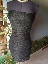 Express Women's Black & Silver Strapless Cocktail Dress SZ M NWT image 8