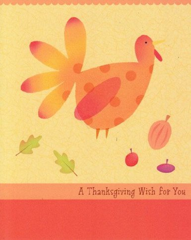 "Greeting Card Thanksgiving ""A Thanksgiving Wish for You"""