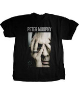 Peter Murphy-Bauhaus-Hiding Portrait-Small-Black T-shirt - $19.34