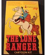 1966 VINTAGE ORIGINAL TV SHOW LONE RANGER CARTOON KIT COLORFORMS COMPLETE UNUSED - $193.20