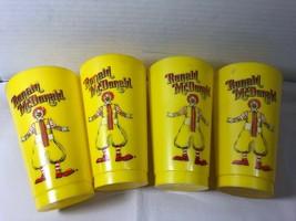 "1960-70""s Lot of 4 Ronald McDonald McDonald's Fast Food Yellow Plastic Cups  - $44.55"