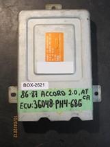 86 87 Honda Accord 2.2 L A/T Ecu/Ecm #36048 Ph4 686 *See Details* - $46.28