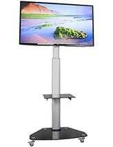 TV Stand Mobile Cart Flat Panel Lcd Plasma Mount with Wheels - €230,62 EUR