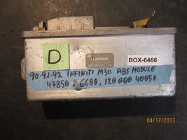 90 91 92 INFINITI M30,ABS MODULE #47850 F6600.12000040051 *See item description* - $44.54