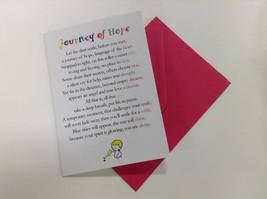Journey of Hope  - Cute Motivational & Encouragement Luxury Greetings Card - $4.25