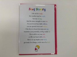 Stay Strong - Cute Motivational & Encouragement Greetings Card, Clarabel... - $4.99