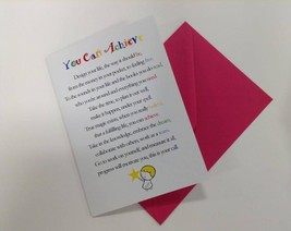 You Can Achieve - Cute Motivational & Encouragement Luxury Greetings Card - $4.99