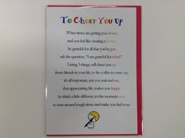 To Cheer You Up  - Cute Motivational & Encouragement Luxury Greetings Card - $4.25