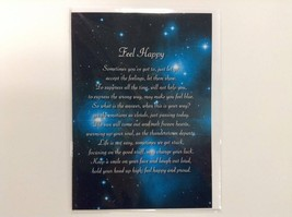 Feel Happy - Spiritual & Inspirational Luxury Quality Greetings Card, 5x... - $4.99
