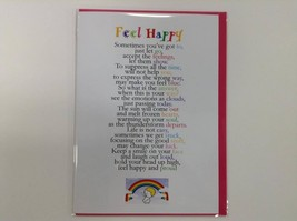 Feel Happy  - Cute Motivational & Encouragement Luxury Greetings Card, 5... - $4.25