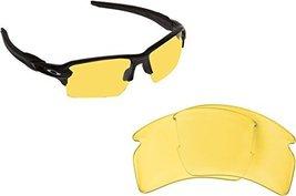 New SEEK Replacement Lenses Oakley FLAK 2.0 XL - Hi Intensity Yellow - $14.82