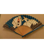 rare Red Star Line Advertising Fan of Pierrot kissing lady's hand c 1930 VG+ - $175.00