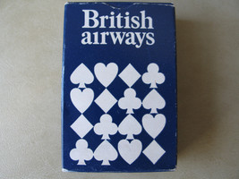 BRITISH AIRWAYS SMALL POKER PLAYING CARDS - made in England - $8.49
