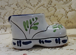 Vintage Italian Pottery Shoe // Small Decorative Shoe Planter / Vase / T... - $8.00