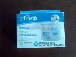 DR BROWN natural flow microwave steam sterilizer bags   ( 4 bags ) - $6.93