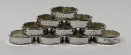 WASHINGTON SILVER PROOF  US STATE QUARTER HANDMADE COIN RING  SIZE 4 -12 - $24.99