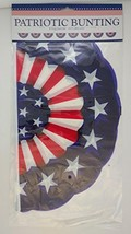 PATRIOTIC BUNTING RED WHITE & BLUE RUFFLED EDGES (8 Flags) - $3.95
