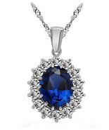 Necklace Pendant Rich Blue Sapphire Swarovski Crystal Perfect Gift Brand... - $9.95