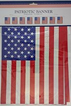 PATRIOTIC FLAG BANNERS (8 Flags12) HOLOGRAPHIC - $2.96