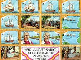 Commem sheet of the 490 Aniversario Del Descrubrimiento De America 1492 to 1982  - $8.82