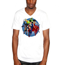 Super Hero Marvel Mens V-Neck T-Shirt - £9.23 GBP