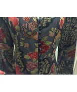 JC Collections Black Gold Red Multi-Color Jacket Sz 8 NWT - $28.99