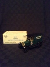 ERTL Amoco 1923 Red Crown Gasoline Diecast Truck Bank 1:25 Scale Green 1... - $20.56