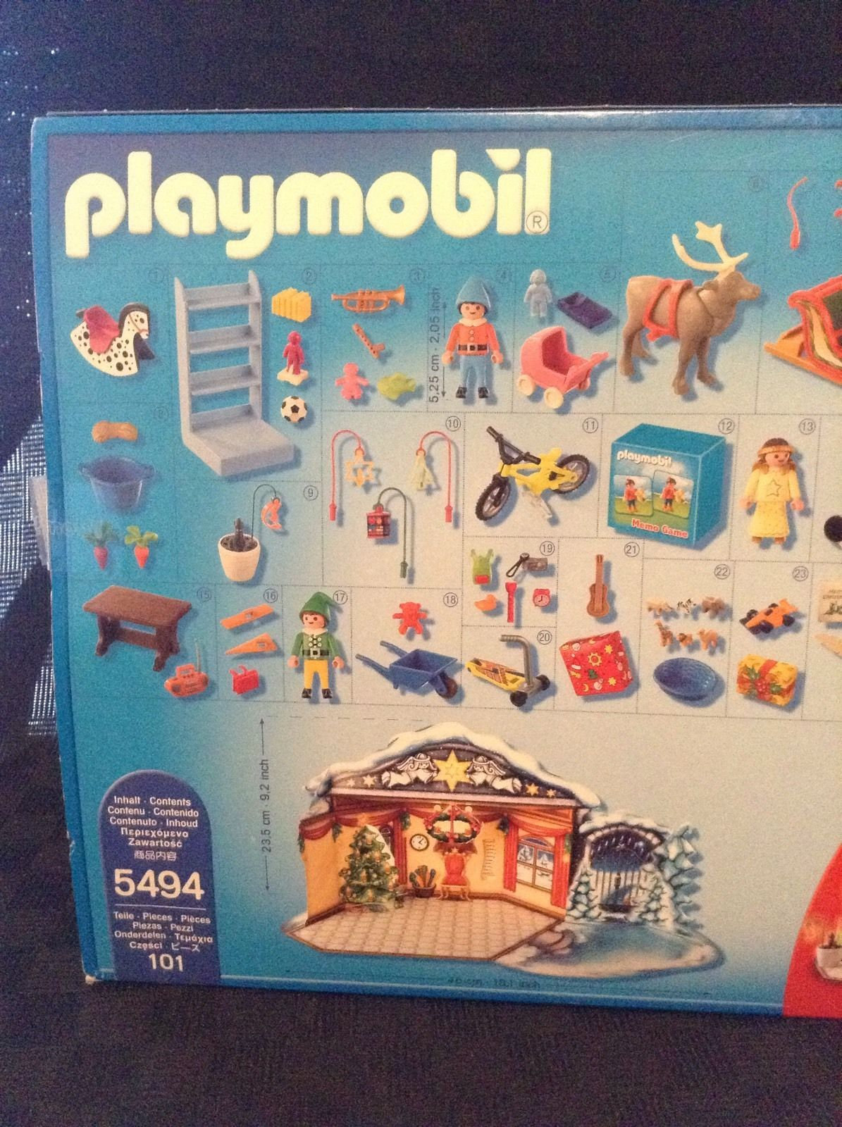 New Playmobil Santa's Workshop 5494 Advent Calender 101 Pieces Building Set Toy