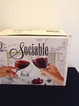Set Of 12 Libbey Sociable All Purpose Wine Goblet 10.75 Oz Dishwasher Safe - €33,71 EUR