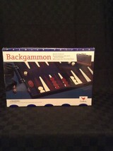 NIB 1997 Cardinal Backgammon Board Game With Leatherette Travel Case - $18.69
