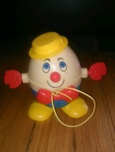 Vintage Fisher Price Humpty Dumpty Pull Rolling 736 M 3 Toy - $9.49