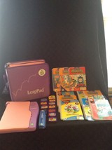 Leap Frog Leap Pad Lot Of 10 Books Catridges And Case Learning System Le... - $65.44