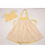 BOUTIQUE PJ LINDBERG GIRLS SIZE 4T DRESS SET YELLOW CHECK DAISY - $16.82