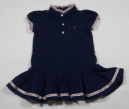 NAUTICA GIRLS SIZE 18M DRESS NAVY NAUTICAL PATRIOTIC RED WHITE BLUE PLEA... - $12.61