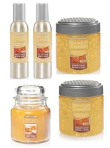 5 Piece Yankee Candle Honeycrisp Apple Cider Set - Room Spray, Candle, Spheres - $38.99