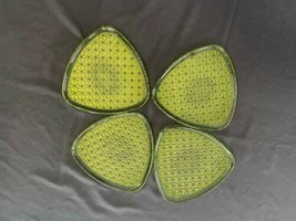 Indiana Glass Company Vintage Triangular Indiana Green Glass Snack Plate... - $49.50